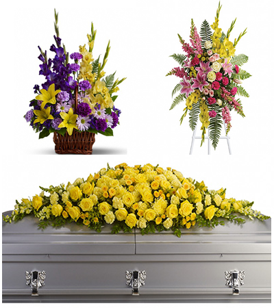 Standing Spray, Casket Flowers, Fireside Basket