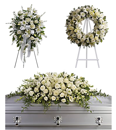 Standing Sprays, Funeral Wreaths, Casket Flowers