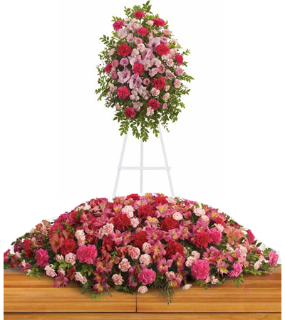 Standing Funeral Spray, Casket Flowers
